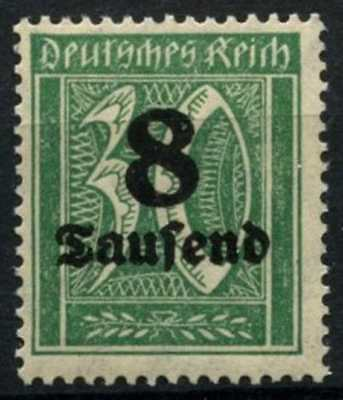 Germany 1923 SG#275a, 8T On 30pf Blue-Green MNH #D68987