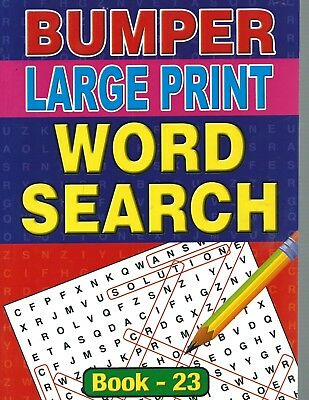 A4 Bumper Word Search-Large Print With 129 Puzzles In Each This Is Book 23