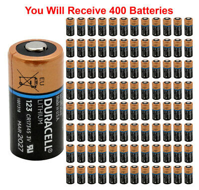 400x Duracell Dl 123 Battery Photo Ultra Lithium Cr123 3v Batteries