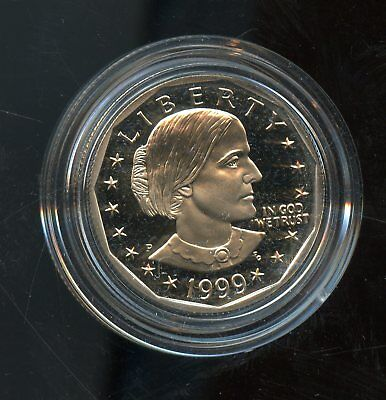 Fantastic 1999-P Proof Susan B. Anthony $1 Dollar Coin w/ CoA BR985
