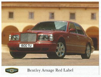 BENTLEY ARNAGE RED LABEL Press Photo Photo Photo Photographer Front View