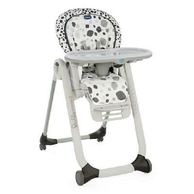 Chicco Polly Progress 5-in-1 Baby Highchair (Anthracite) - Suitable From Birth