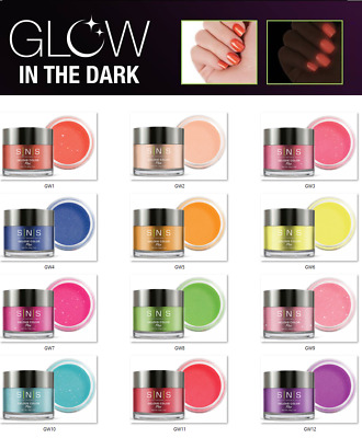 SNS Nail Dip Color Dipping Powder GLOW IN THE DARK GW01 - GW13 ~U PICK~