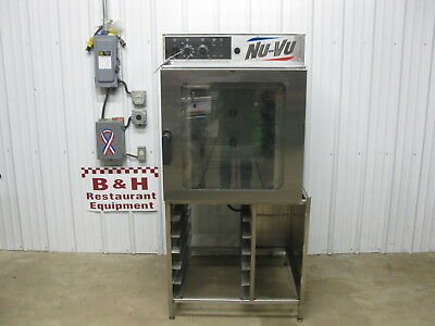 NU-VU Full Size Electric Convection Oven RM-5T w/ Stainless Steel Stand