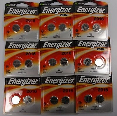 Energizer Watch/Electronic/Specialty Battery 2016 3V 2-pk x9 [18 Total]