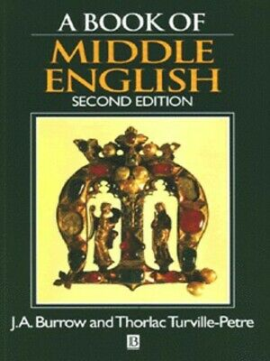 A book of Middle English by J. A. Burrow (Paperback)