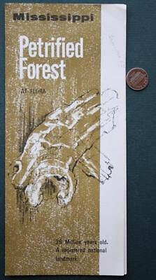 1960s Era Flora,Mississippi Petrified Forest brochure-36 Million Years Old-COOL!