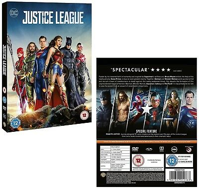 JUSTICE LEAGUE (2018): Batman Superman Wonder Woman Aquaman Flash  R2 DVD not US