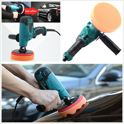 220V 600W 6 Speed Car SUV Paint Care Waxing Machine Furniture Porcelain Polisher