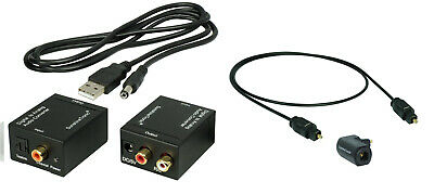 digital a Analógico Convertidor Audio + 1 ,8m Toslink (of001-1.8g) + CABLE