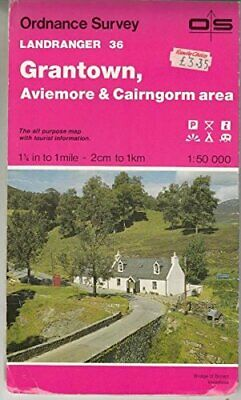 Grantown, Aviemore and Cairngorm Area (L... by Ordnance Survey Sheet map, folded