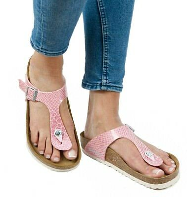 BIRKENSTOCK GIZEH BS 1009122 Magic Snake Rose Rosa Birko