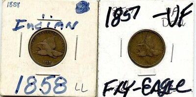 1857 & 1858 Flying Eagle Cent Pair!!!!..starts @ 2.99