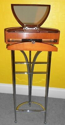 Vintage Valet Butler Stand Clothes Chrome Wood Circa 1960 Excellent Condition