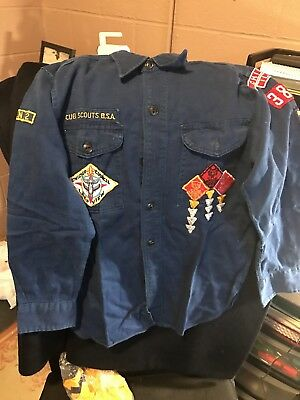 Vintage ☆ Boy Scouts America BSA ☆ Cub Shirt ☆ 50's Era ☆ Chicago With Extras