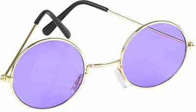 John Lennon Round Purple Color Lens Sunglasses