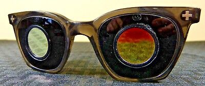 Rare Vintage Welding Glasses Safety Specs Glasses Eye Protection Weird Unknown