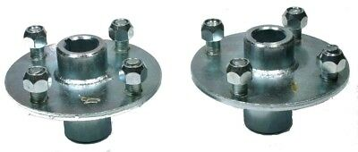 "Pair of New Rear Hubs For Go-cart for 1"" axle 4 bolt 4"""
