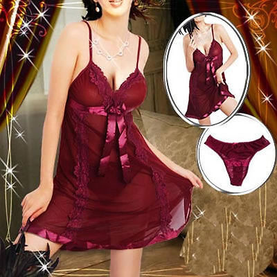 Lingerie Babydoll Dress Chemise Nighty Plus Size 6 8 10 12 14 16 18 20 22 24