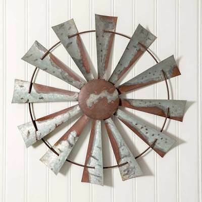 Country new distressed tin WINDMILL wall hanging  / nice