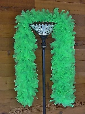 Large Ruff Feather Boa - GREEN - Outstanding Show Biz Quality