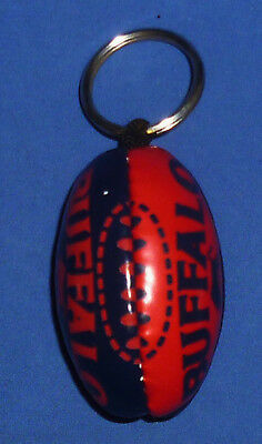 New Mini AFL Football Footy Supporters Key Ring Melbourne Demons 6.5 cm x 4 cm