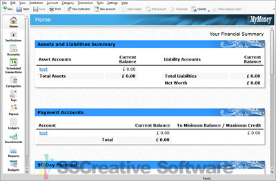 K My Money Manager Personal Accounting Software QIF Quicken Import