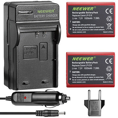 Neewer 2-Pack Li-ion Battery Replacement for LP-E10 for Canon EOS Rebel T3 1100D