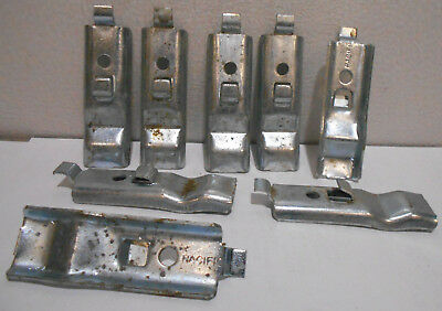 Lot of 8 Shelf Clip Brackets for Pacific Metal Shelving