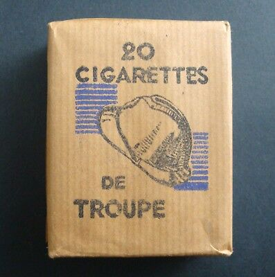 Paquet 20 Cigarettes Troupe Seita Tobacco Tabacs Ancien Pack Old France Guerre
