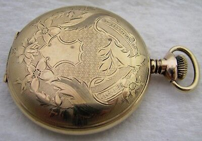 Antique 16S Us Watch Waltham Gold Filled Hunter Pocket Watch