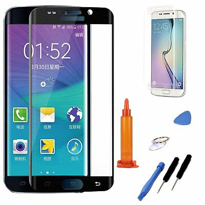 Black LCD Replacement Screen Glass Repair Tools For Samsung Galaxy S7 Edge