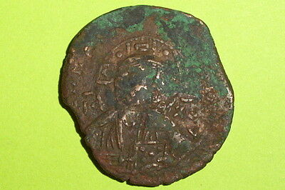 HUGE Ancient BYZANTINE COIN of MICHAEL IV cross JESUS CHRIST old christian bible