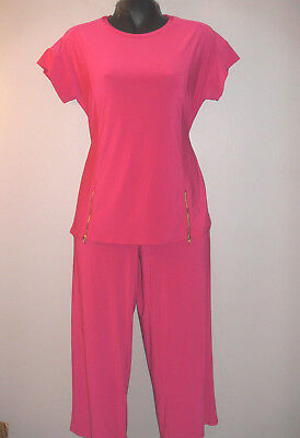 Nwt Womens Antthony Hsn 2Pc Cute & Casual Capri W/ Tunic Top Outfits Sets M