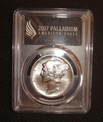2017 $25 MS70 PCGS First Day American Eagle Palladium One Ounce Coin Black FDOI