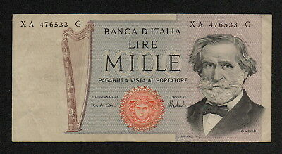ITALY (P101dr) 1000 Lire 1975 F+ Replacement note!