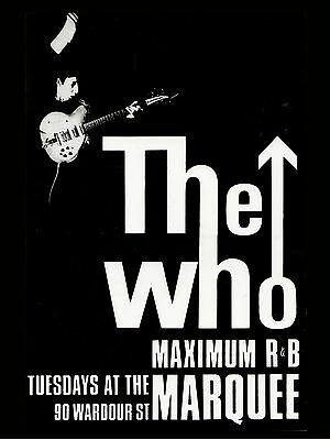 """The Who Marquee 16"""" x 12"""" Photo Repro Concert Poster"""