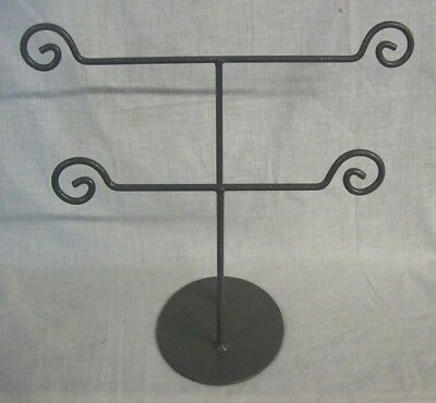 """Store Display Fixtures 6 METAL JEWELRY DISPLAY STAND 2 TIERS 12"""" tall x 14"""" wide"""