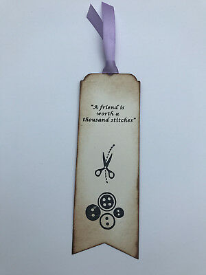 Sewing themed bookmark