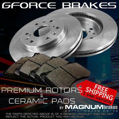 Front 2 Premium Rotors and Ceramic Pads for 2010-2013 Cadillac SRX