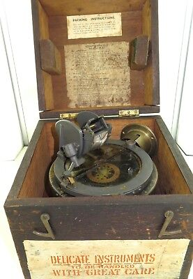Ww2 Military Issued Type 02A Azimuth In Original Storage Box. Used By R.a.f.