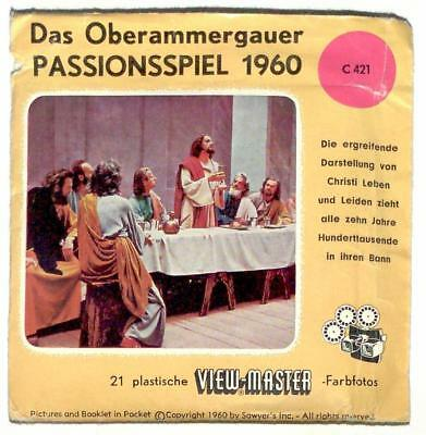 FOREIGN vintage SAWYERS view master PASSION PLAY made in BELGIUM reels CHRISTIAN