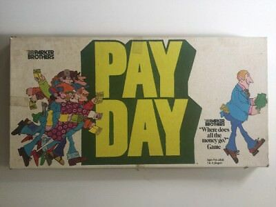 Vintage Payday Board Game Parker Brothers Toltoys 1975 Collectable Pay Day