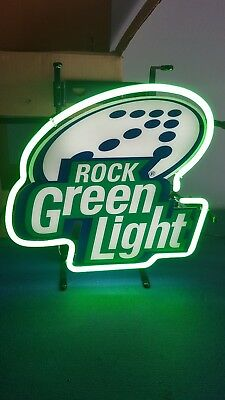 (L@@K) Rolling Rock Beer neon light up sign back bar small size Latrobe PA MIB