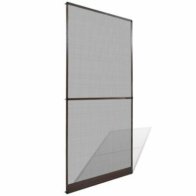 Brown Hinged Mesh Screen Door Anti-insect Fly Mosquito Fiberglass Net 100x215cm