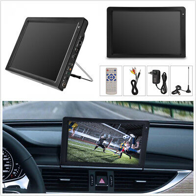 Portable 12'' TFT LED HD TV ATSC 12V Car Home Digital Television Analog HDMI VGA