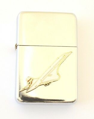 Concorde Windproof Petrol Lighter FREE ENGRAVING Gift 82