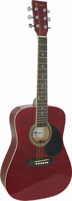 Blue Moon 3/4 SIZE ACOUSTIC GUITAR. Red. Spruce top, dreadnought. From Hobgoblin