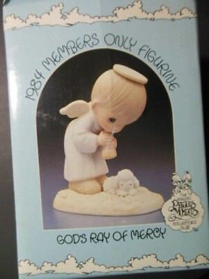 """Precious Moments Porcelain Figurine """"God's Ray of Mercy"""", 1984 Members only item"""