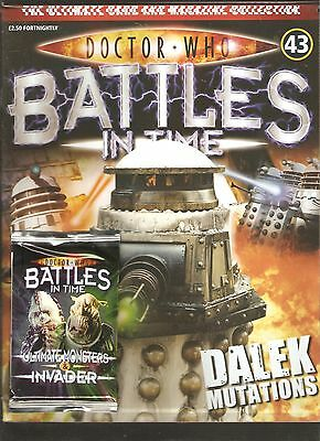 Doctor Who Battles In Time # 43 Dalek Mutations + 1 Pack Of Trading Cards [N9]